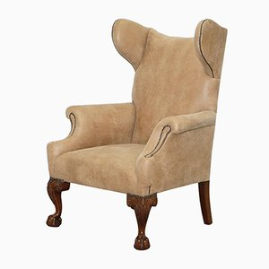 18th Century Irish Georgian Style Wingback Armchair
