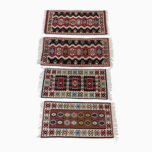 Czechoslovakian Wool Kilim Rugs, 1960s, Set of 4