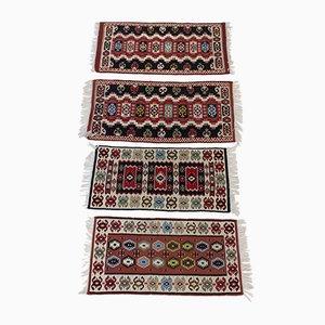 Tschechoslowakische Kelim Wollteppiche, 1960er, 4er Set
