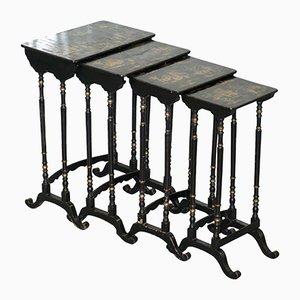 Antique Georgian Nesting Tables, Set of 4