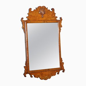 Georgian George II Burr Walnut Wall Hanging Mirror, 1730s