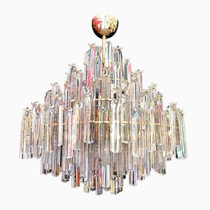 Large Vintage Chandelier from Venini, 1970s