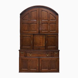 Antique Oak Arched Cabinet