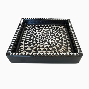 Domino Keramiktablett von Stig Lindberg für Gustavsberg, 1950er
