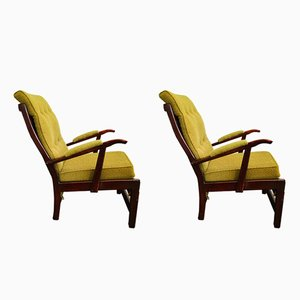 Mid-Century Lounge Armchairs, Set of 2