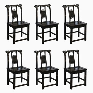 Chinese Throne Chairs, 1880s, Set of 6