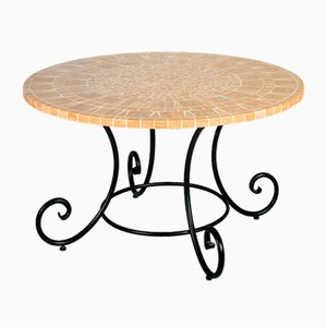 Round Diamante Marble Mosaic Table from Egram