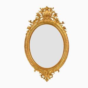 Antique Oval Golden Framed Mirror