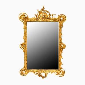 Specchio con cornice dorata, XIX secolo
