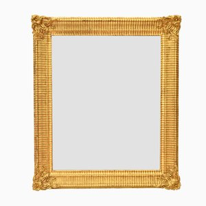 Small Antique Golden Framed Mirror