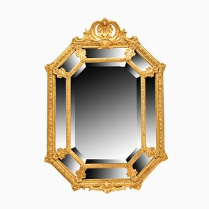 19th Century Oval Golden Framed Mirror