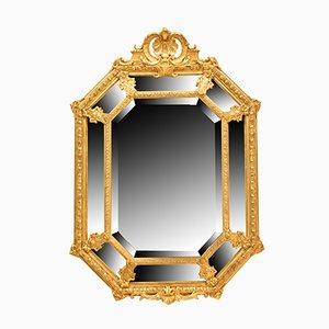 Ovaler Spiegel mit Rahmen aus Blattgold, 19. Jh.