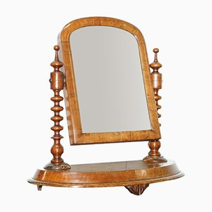 Antique Georgian Walnut Dressing Table Mirror