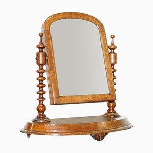 Espejo de tocador georgiano antiguo de nogal