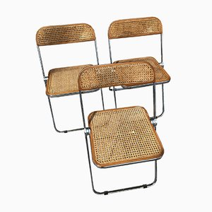 Plia Chairs by Giancarlo Piretti for Castelli, 1968, Set of 3