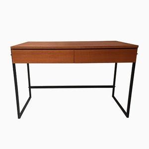 Mid-Century Schreibtisch aus Teak & Metall