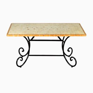 Rectangular Sapphire Marble Mosaic Table from Egram