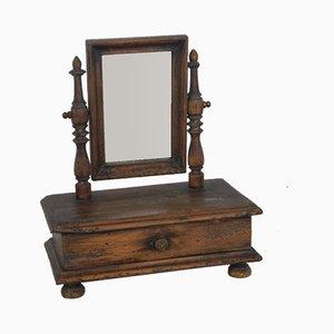 Vintage Italian Walnut Mirror
