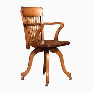 Early 20th Century Walnut Swivel Desk Chair
