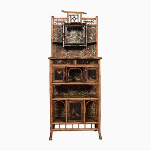19th-Century Bamboo Cabinet