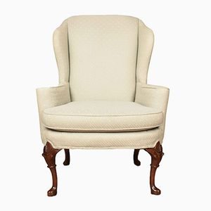 Antique Georgian Style Wing Armchairs, Set of 2