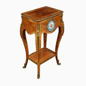 Antiker Nachttisch aus Teak