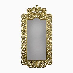 Specchio da parete antico fiorentino dorato