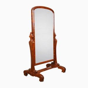 Miroir Cheval Victorien Antique en Acajou