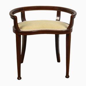Edwardianischer Klaviersitz mit Intarsien