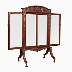 Adam Revival Mahogany Fire Screen