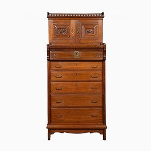 Antique Walnut Butlers Cabinet
