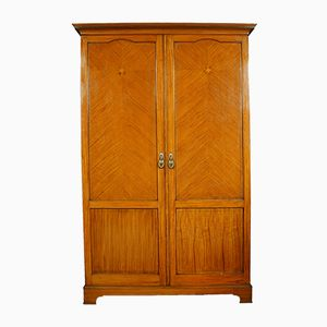 Antique Satinwood Wardrobe from S&H Jewell