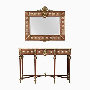 Vintage Louis XVI Revival Console Table & Mirror from H & L Epstein