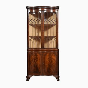 Antique Georgian Style Mahogany Corner Cupboard