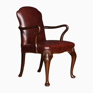 Antique George III Style Mahogany Armchairs, Set of 2