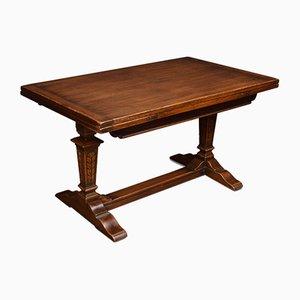 Antique Oak Draw Leaf Refectory Table