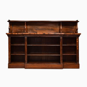 Antique Regency Rosewood Open Bookcase