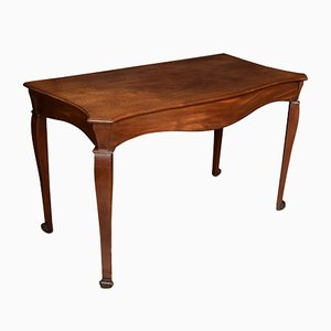 George III Mahogany Serpentine Fronted Serving Table