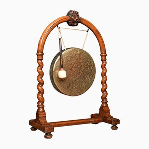 Late 19th-Century Walnut Dinner Gong