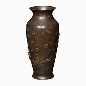 Antike japanische Vasen aus Bronze & Metall, 2er Set