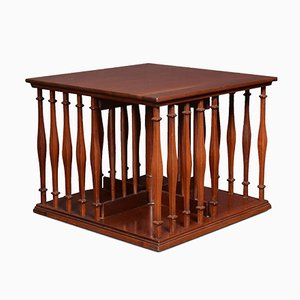 Kleines edwardianisches drehbares Bücherregal mit Mahagoni-Rahmen