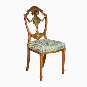 Late 19th Century Sheraton Revival Satinwood Chair