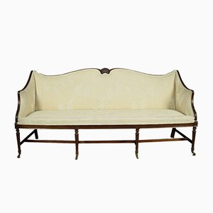 Antique Regency Three Seater Settee