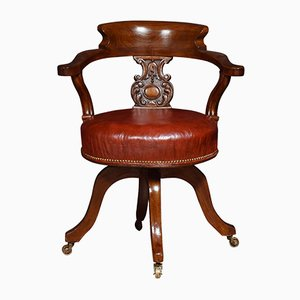 Antique Mahogany Captain's Office Chair