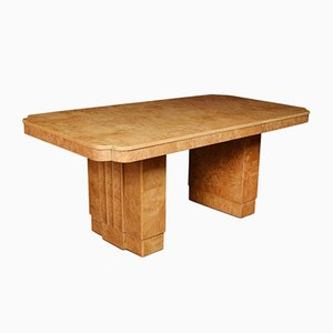 Art Deco Bird's Eye Maple Dining Table