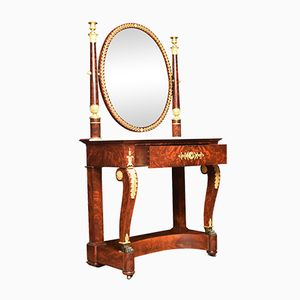 19th Century French Ormolu Mounted Empire Dressing Table