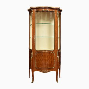 19th Century French Walnut and Kingwood Vitrine