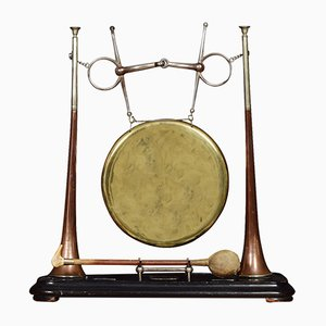Gong vittoriano antico di Henry Keat & Sons