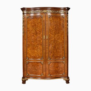 Serpentine Fronted Walnut Wardrobe