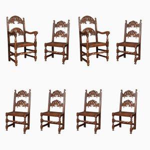 Antike Yorkshire Esszimmerstühle, 8er Set